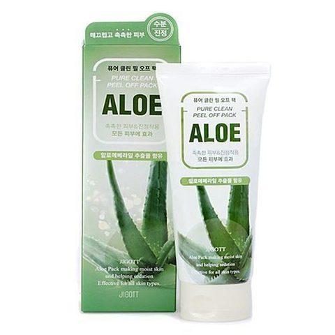 Jigott Маска-пленка на основе экстракта алое Pure Clean Peel Off Pack Aloe 180 мл.