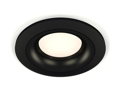 Комплект встраиваемого светильника XC7622002 SBK/PBK черный песок/черный полированный MR16 GU5.3 (C7622, N7011)