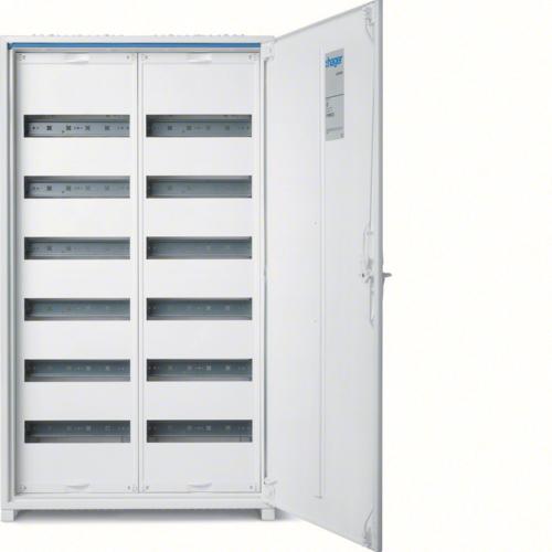 Щиток открытой установки,секционный,с оснасткой,IP44,950x550x161мм (ВхШхГ),одна дверь,RAL9010