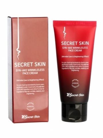 Secret Skin Syn-Ake Wrinkleless Face Cream антивозрастной крем для лица с пептидами змеиного яда