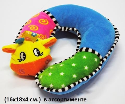 СТ033 Звери погремушка /16х18х4см/