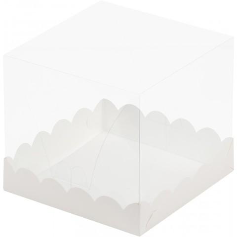 Коробка для торта с прозрачным куполом,15*15*14см