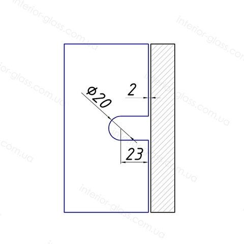 Соединитель (держатель) стена-стекло HDL-722 CP полированный хром