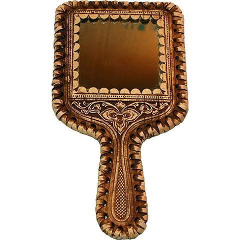 Зеркальце квадратное на ручке (береста)