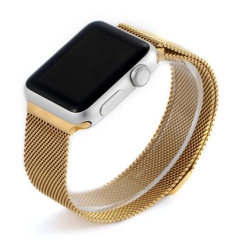 Ремешок из нержавеющей стали COTEetCI W6 MAGNET Band (WH5203-GD) для Apple Watch 44мм/ 42мм Золотистый