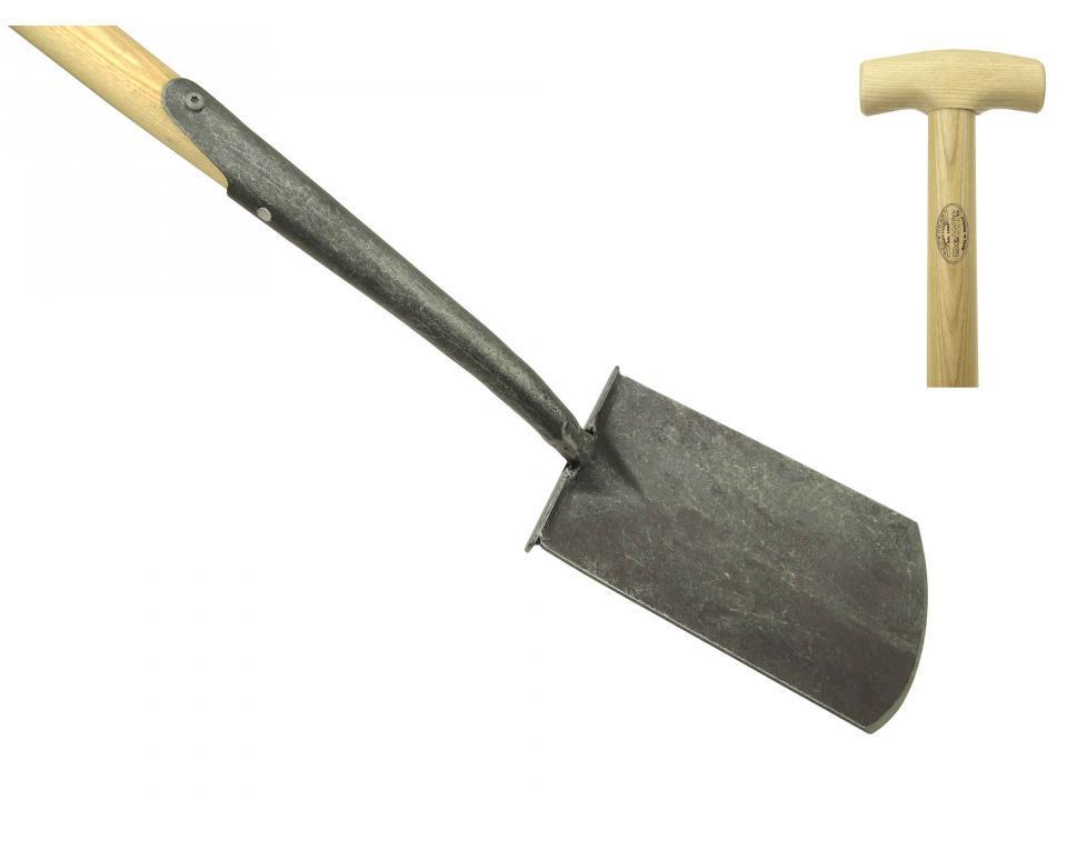 Английская лопата DeWit с подставкой для ноги, рукоятка из ясеня 750мм