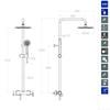Душевая система со смесителем BLAUTHERM 937802RP240NM черный - фото №3