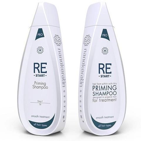 Очищающий шампунь для всех типов волос Restart Priming Shampoo Nanokeratin System, 320 мл.