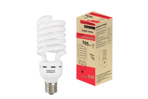 Лампа люминесцентная НЛ-HS-105 Вт-2700 К–Е40