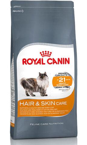 15кг, 6кг. ROYAL CANIN Сухой корм для взрослых кошек для поддержания здоровья кожи и шерсти Hair&Skin Care