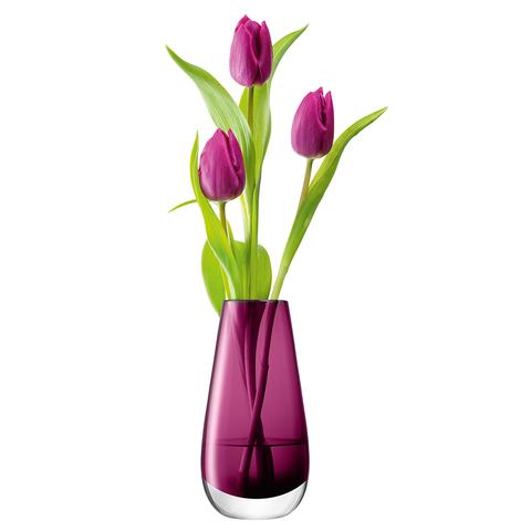 Ваза в форме бутона Flower Colour 14 см лиловый