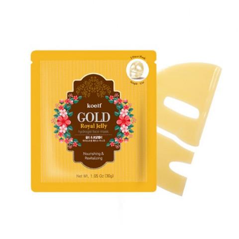 Koelf Gold & Royal Jelly Hydro Gel Mask Pack - Гидрогелевая маска с частичками золота и маточным молочком