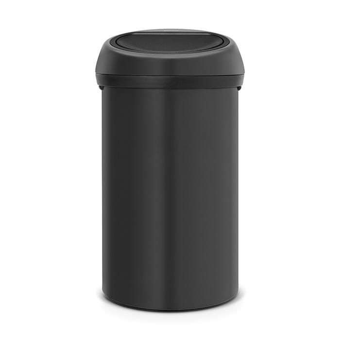 Мусорный бак Touch Bin (60 л), Черный, с эффектом минерального напыления, арт. 128981 - фото 1