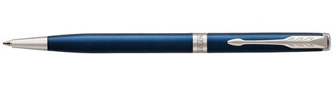 Шариковая ручка Parker Sonnet Slim Subtle Blue Lacquer CT Mblack123