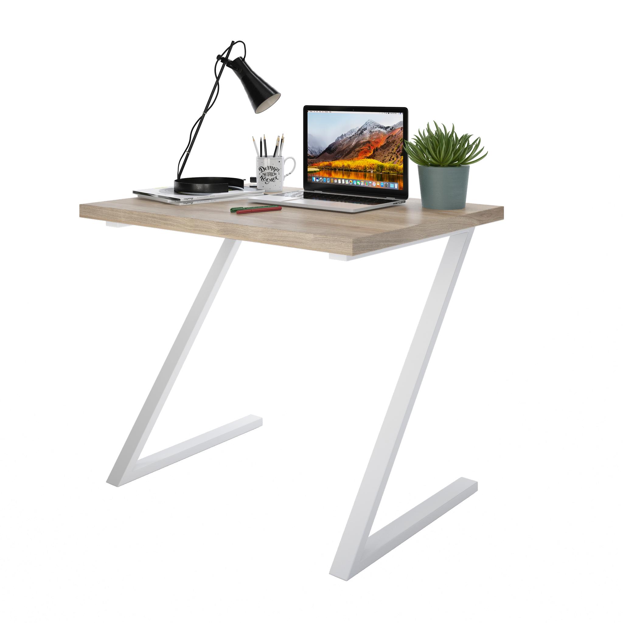 Письменный стол ДОМУС СП012 вяз светлый/металл белый