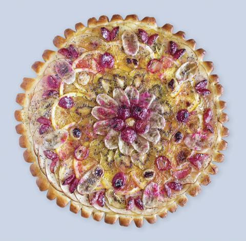 Фруктовый открытый пирог