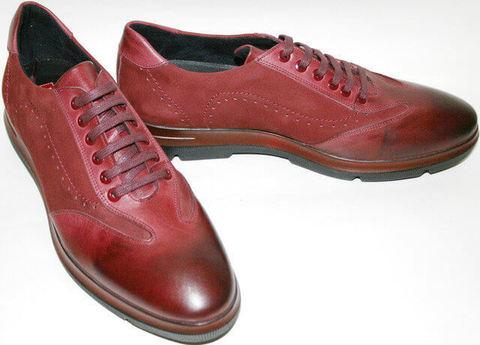 Классические туфли оксфорды в спортивном стиле. Классические мужские туфли на плоской подошве Luciano Bellini Sport Rad