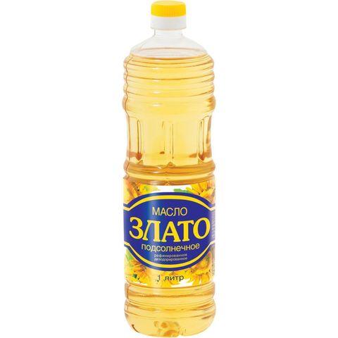 Масло подсолнечное раф. Злато МИНИМАРКЕТ 1л