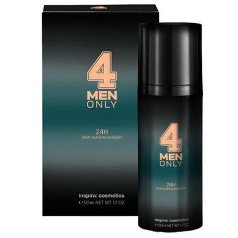 INSPIRA 4 Men Only: Легкий укрепляющий крем для лица 24-часового действия (24h Skin Supercharger)