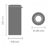 Несгораемая корзина для бумаг (30л), артикул 378621, производитель - Brabantia, фото 5
