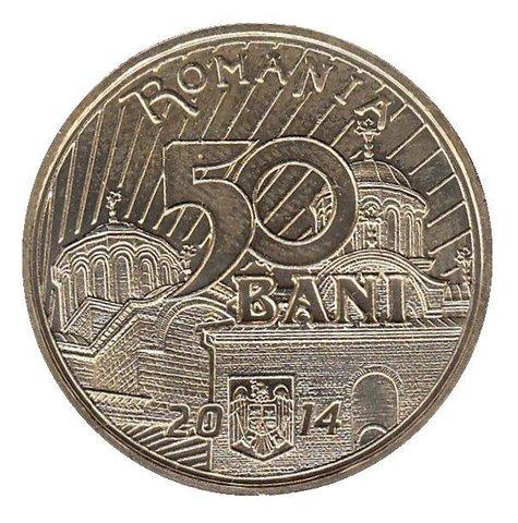"""50 бани """"650 лет с начала правления короля Владислава 1"""" 2014 год"""