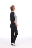 Спортивный костюм для беременных 09979 серый-черный