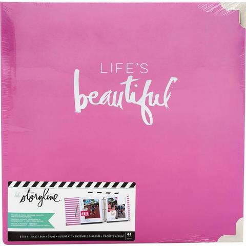 Папка на кольцах для Project Life ( для файлов 22х28 см) Heidi Swapp Storyline2 D-Ring Album  -Life's Beautiful