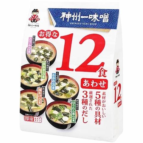 Мисо-суп Миасяка Miyasaka, 12 порций ассорти с белым миссо (оранжевый), 193,1гр