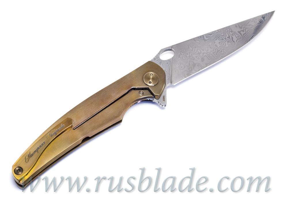 Cheburkov Golden Raven Damascus limited Gold Plated - фотография