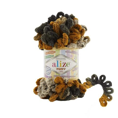 Купить Пряжа Alize Puffy Color Код цвета 6082 | Интернет-магазин пряжи «Пряха»