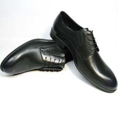Синие туфли мужские кожаные классические Ikos 3416-4 Dark Blue.