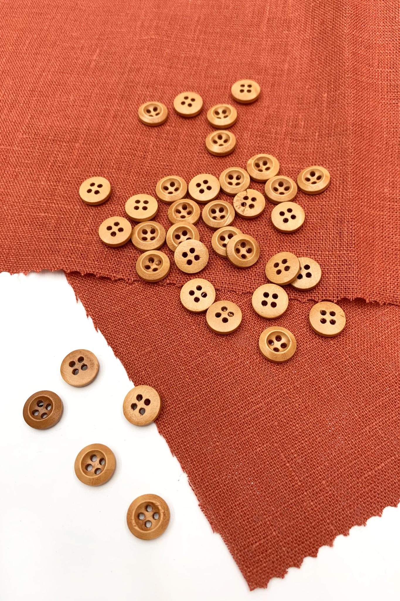 Пуговица деревянная,бук; 11 мм