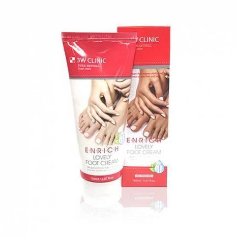 Крем для ног Enrich Lovely Foot Treatment, 150 мл, 3W CLINIC