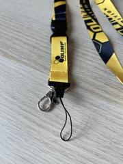 Шнурок для бейджа Olimp yellow