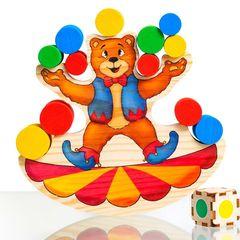 Деревянный Балансир Веселый медведь