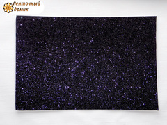 Фоамиран с блестками черный 2мм