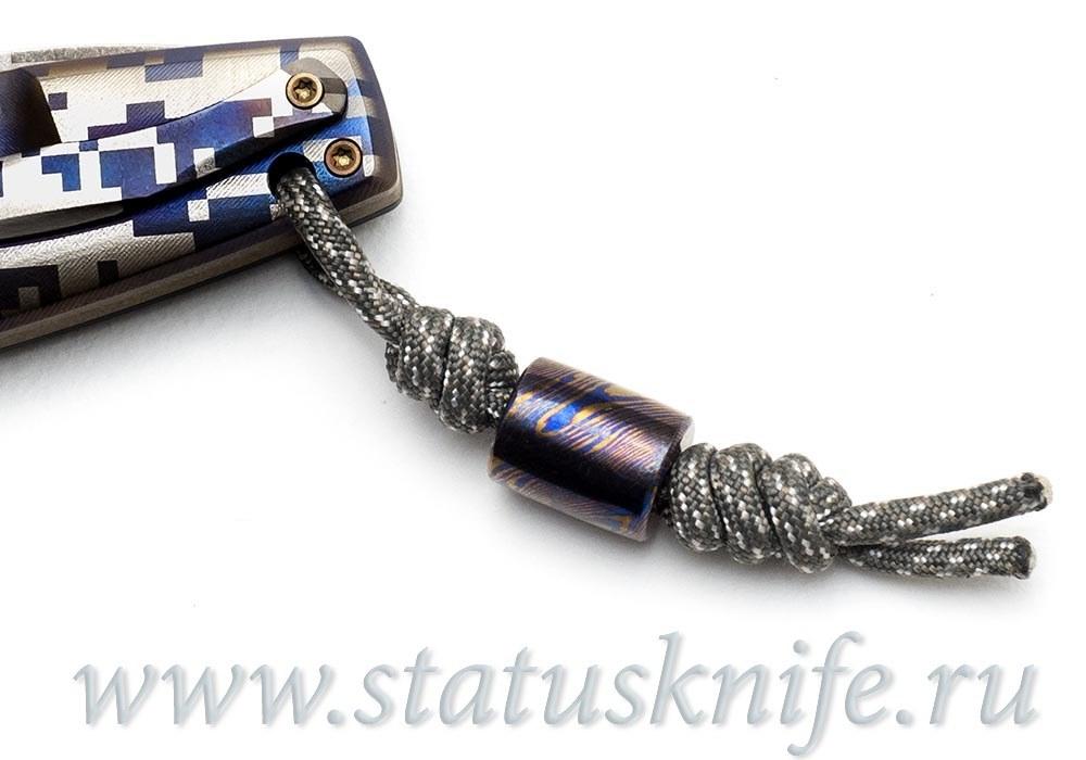 Нож CKF CUSTOM ELF (S35VN, титан-карбон, подшипники) - фотография