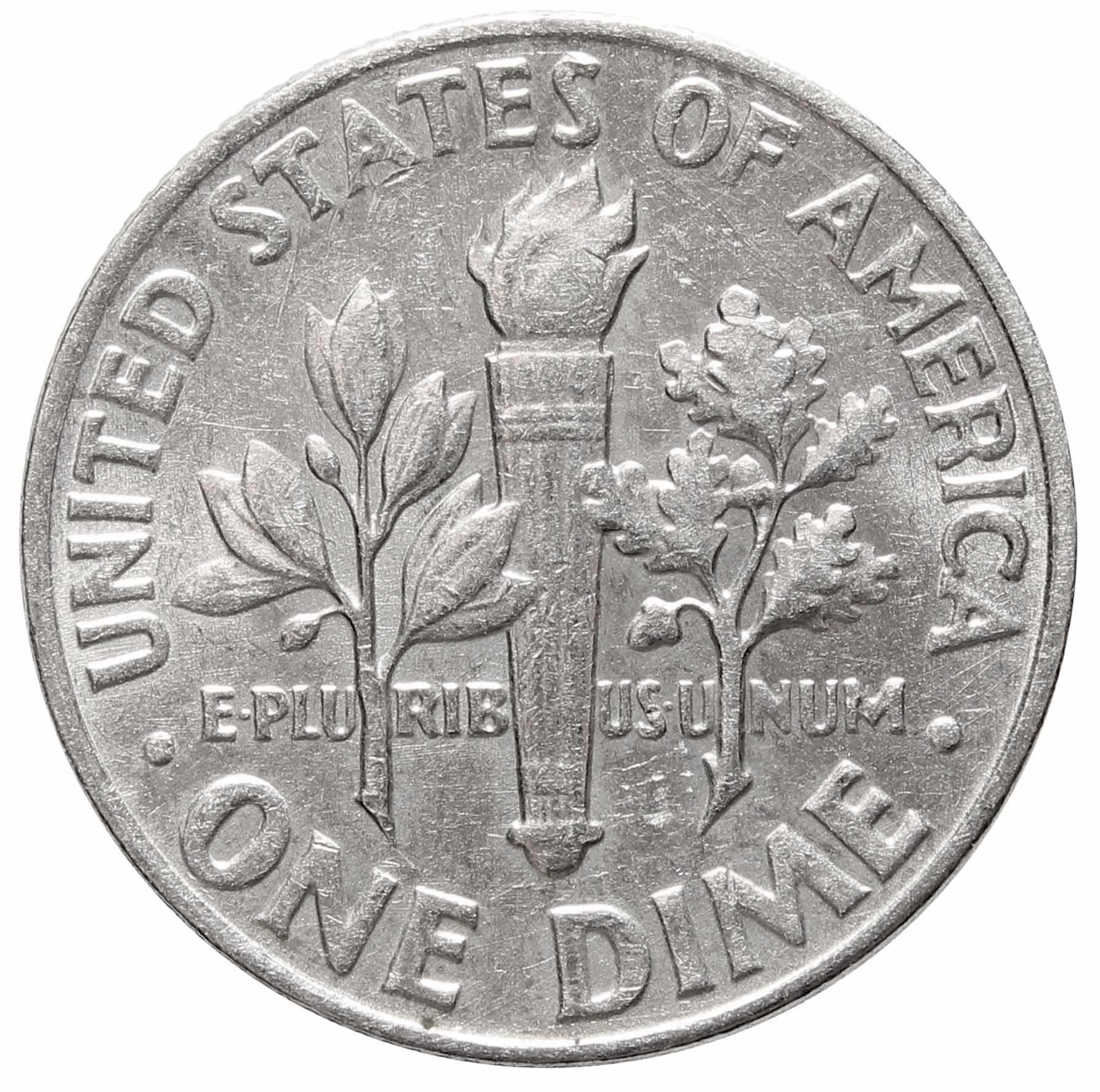 1 дайм (10 центов) 1964. США. Серебро. XF