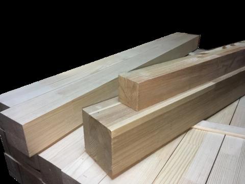 Мебельный брус - лиственница сращенная 60 мм х 60 мм х 900 мм