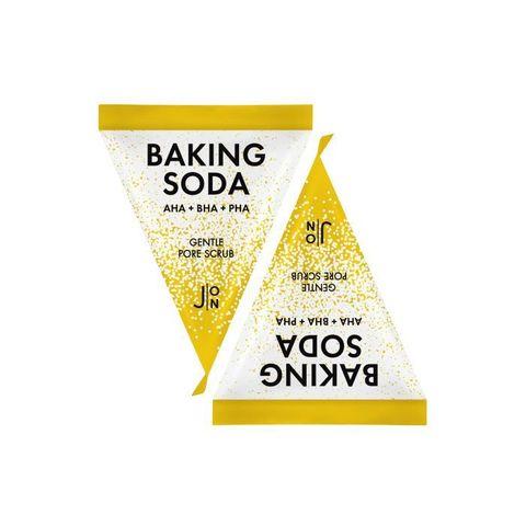 Очищающий скраб для лица с содой и AHA,BHA и PHA кислотами