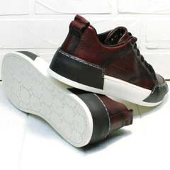 Мужские модные кроссовки на высокой подошве Luciano Bellini C6401 MC Bordo.