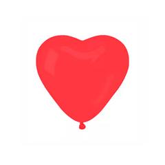 Шар 18'' Пастель, Сердце красное, 10 шт. (БиКей)