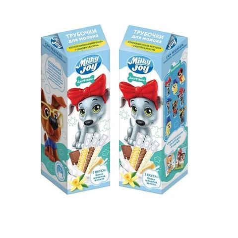MILKY JOY ДВОРНЯШКИ Трубочки для молока  1кор*8бл*5шт, 18г.