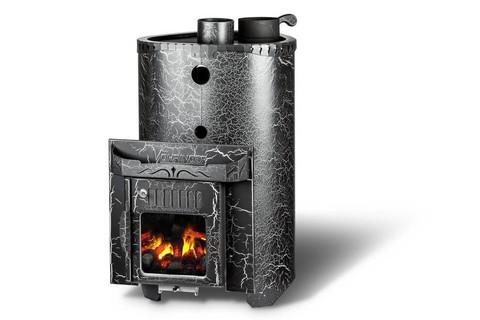 Дровяная банная печь Ферингер Малютка паровая Телескоп с закрытой каменкой