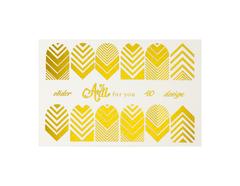 Фольга для дизайна ногтей цвет золото 40