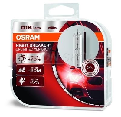 D1S Xenarc Night Breaker Unlimited Ксеноновая лампа OSRAM (артикул 66140XNB-HCB) (2 лампы в упаковке)