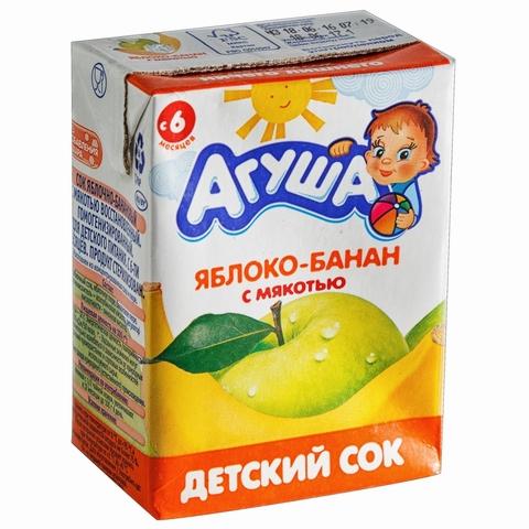 Сок АГУША Яблоко Банан с мякотью 200 мл РОССИЯ