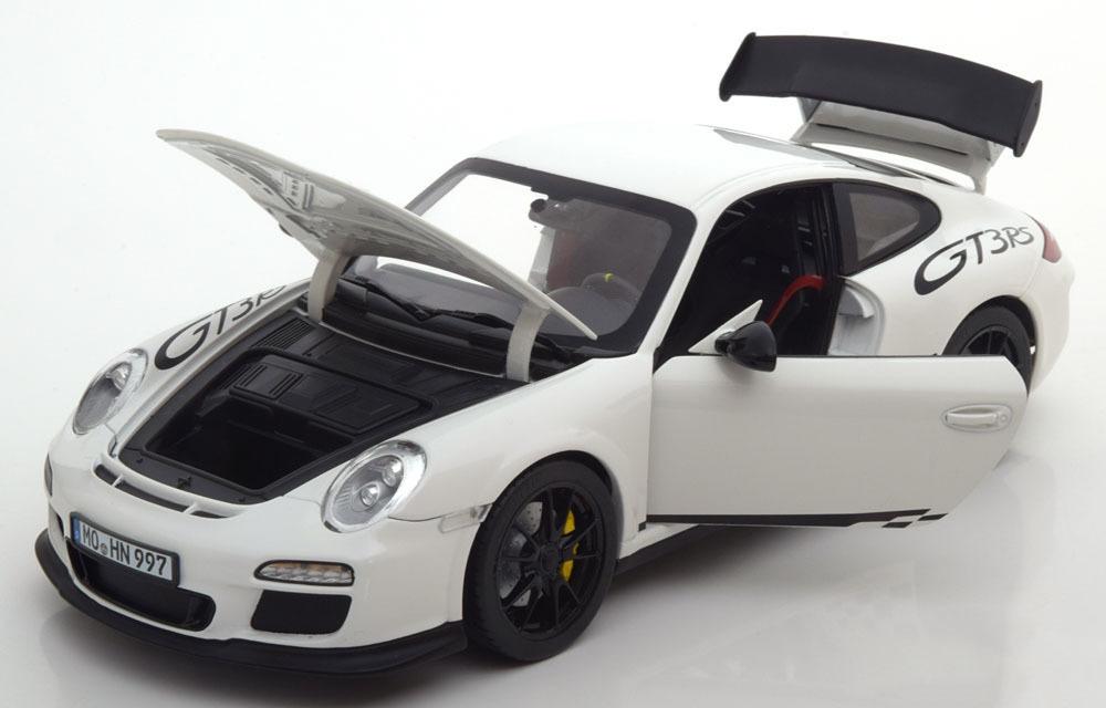 Коллекционная модель PORSCHE 911 GT3 RS (997) 2010 Whitеwith Black Stripping