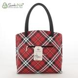 Сумка Саломея 144 шотландский красный + черный