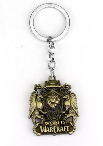 брелок варкрафт, цвет золото/World of Warcraft